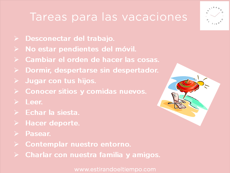 Tareas vacaciones