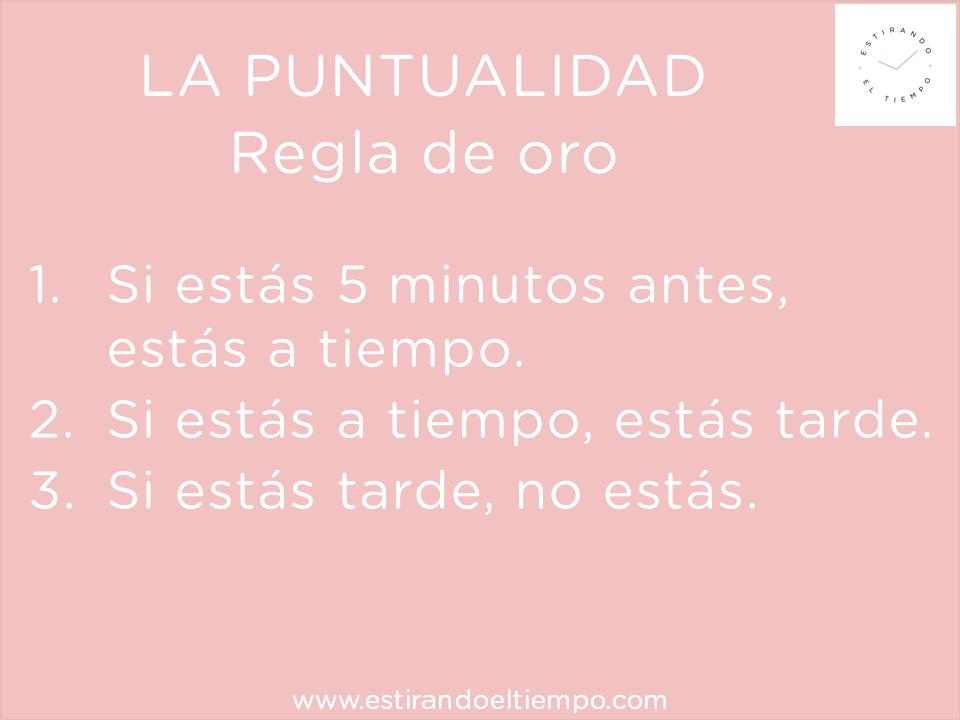 Ser puntual (3)