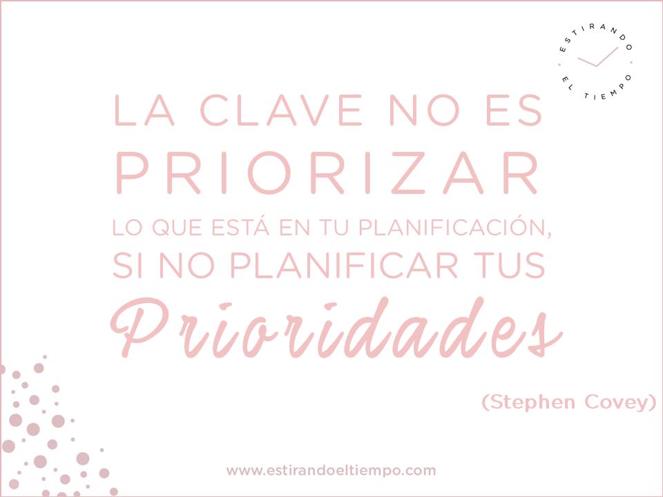 Prioriza y planifica