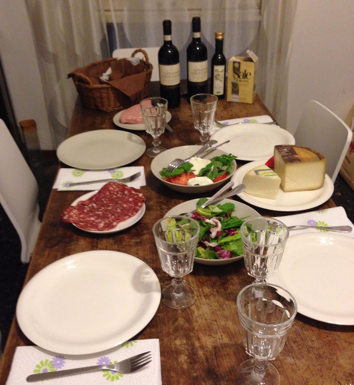 Cena en casa