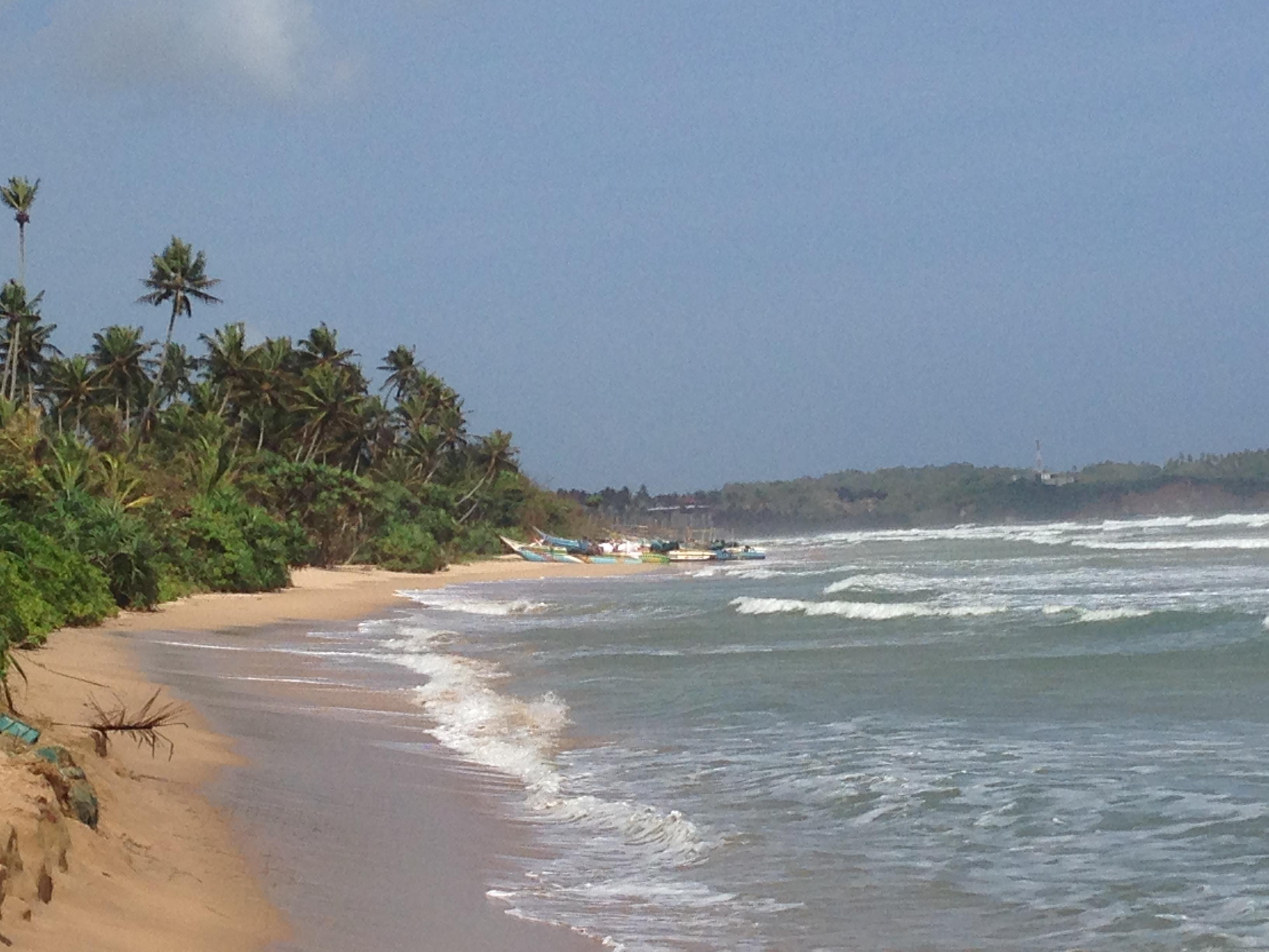 Playa en sri Lanka